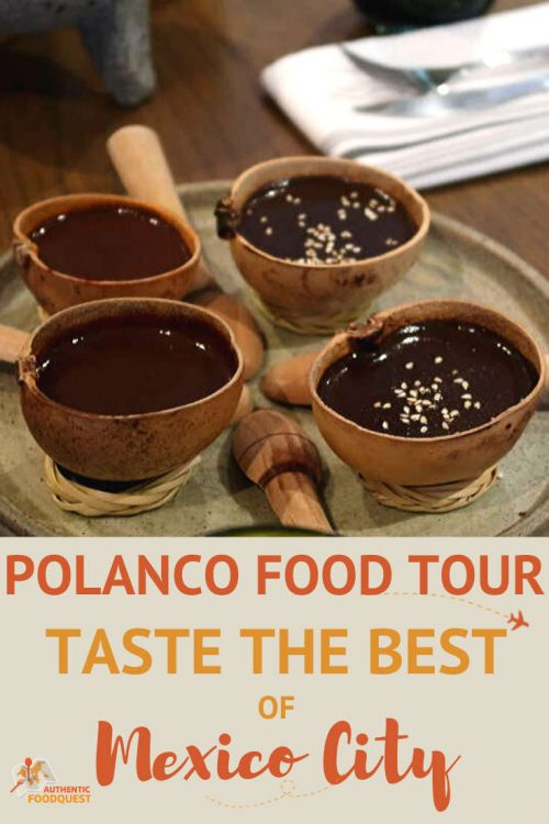 Pinterest image Polanco Food Tour with Mexican Food Tours by AuthenticFoodQuest
