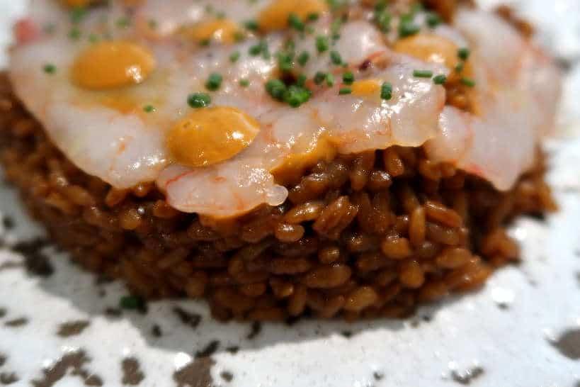 Carpaccio prawns at Vicus Restaurant in Pals Spain by AuthenticFoodQuest