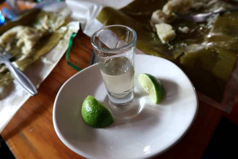 Tequila with Tamales during Secret Food Tours Mexico City by AuthenticFoodQuest