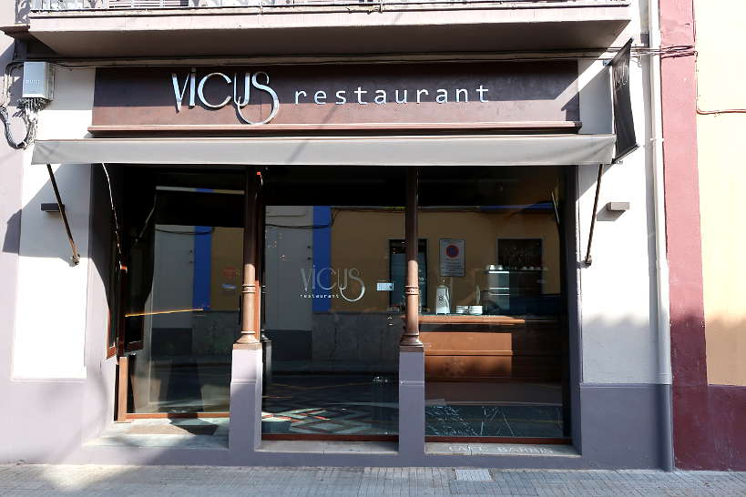 Entrance Vicus Restaurant One of our favorites Costa Brava restaurants by AuthenticFoodQuest