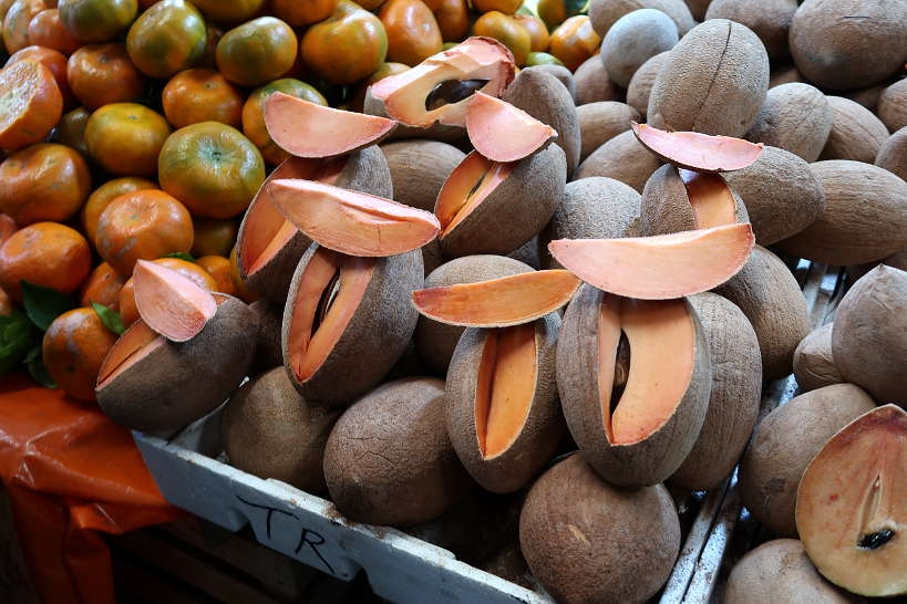 Mamey stand at Mercado de Jamaica in Mexico City by AuthenticFoodQuest