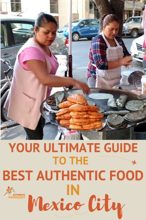 Pinterest image for Food in Mexico City by AuthenticFoodQuest