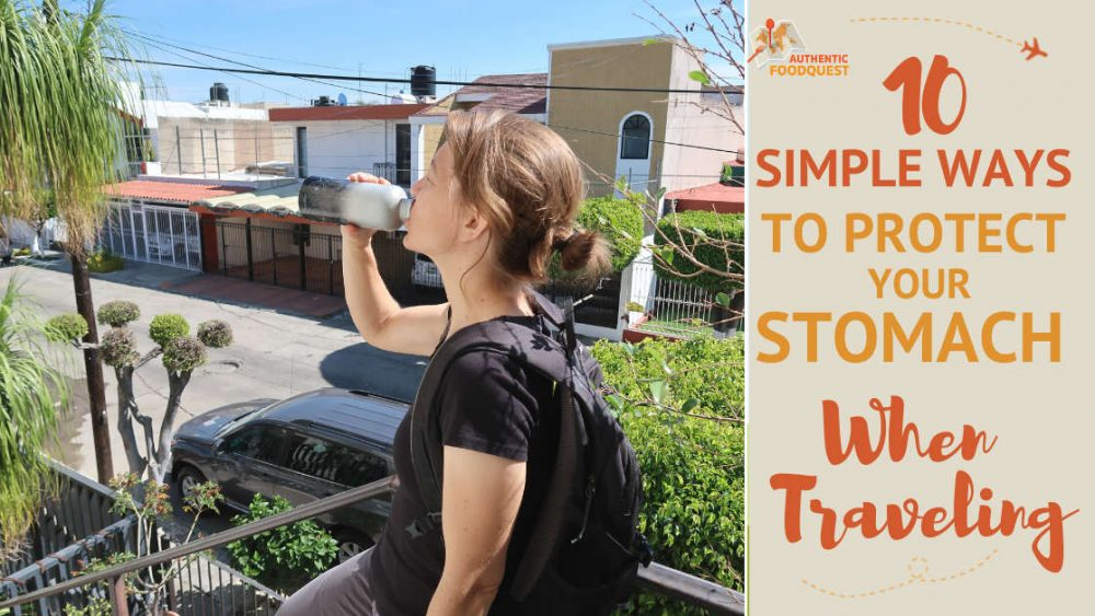 Drinking water a great tip to avoid stomach problems after traveling by AuthenticFoodQuest