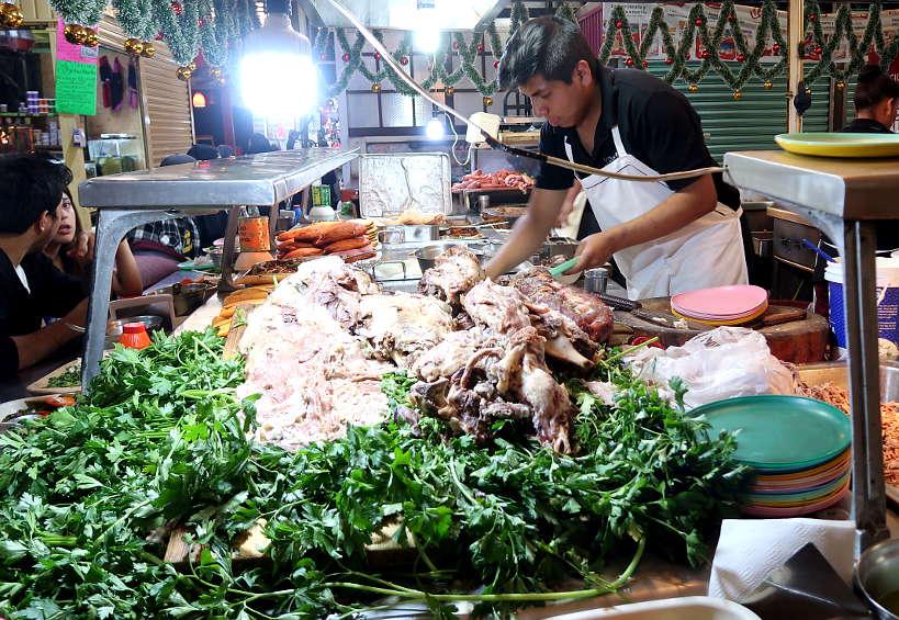 Tacos de Barbacoa Stand at Mercado De Jamaica by AuthenticFoodQuest