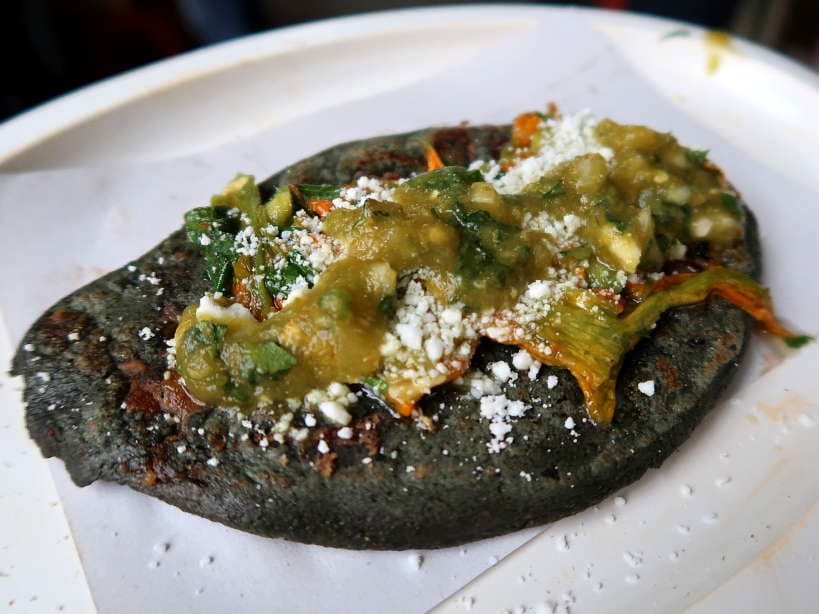 Tlacoyo de Flor de Cabalaza a popular Food in Mexico City by AuthenticFoodQuest