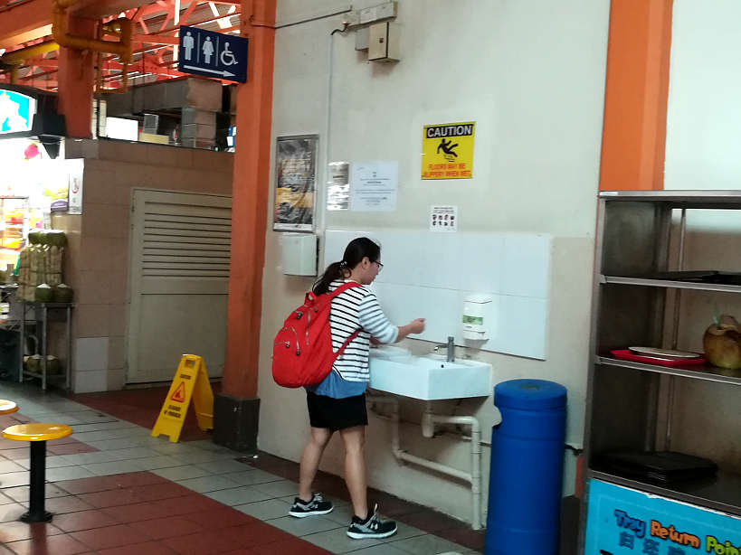 Wash station in Singapore by AuthenticFoodQuest