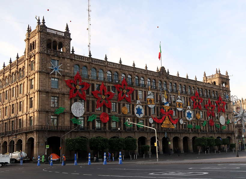 Zocalo plaza in Mexico City at Christmas by AuthenticFoodQuest