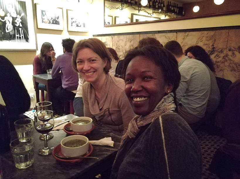 Claire and Rosemary Enjoying Caldo Verde in Lisbon Portugal by  AuthenticFoodQuest