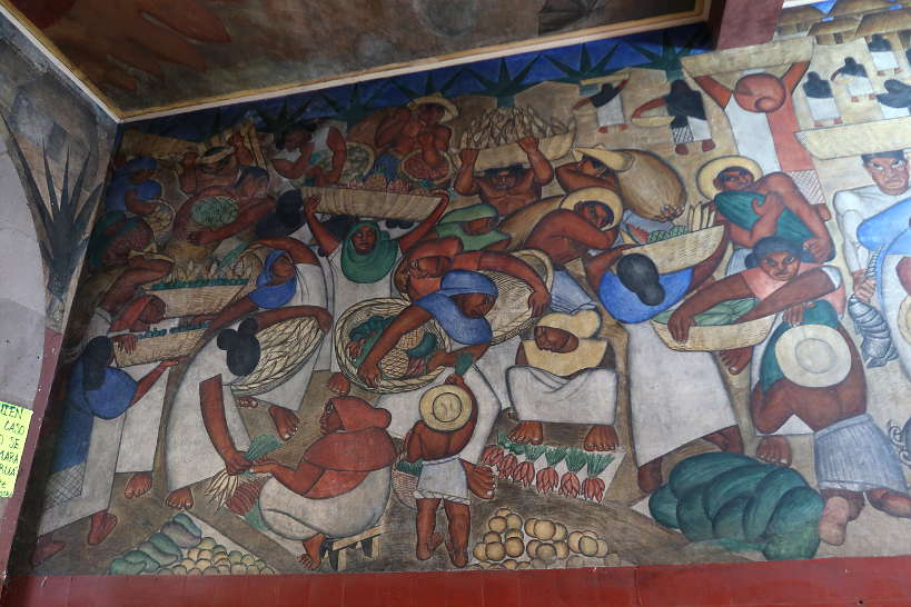 Diego Rivera Murals at Abelardo L Rodriguez Market Mexico City by AuthenticFoodQuest