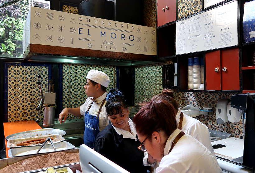 Churreria El Moro at Mercado de Roma in Mexico City by AuthenticFoodQuest