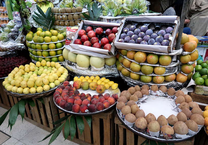 Fruit Stand inside Mercado de Medellin Mexico City by AuthenticFoodQuest