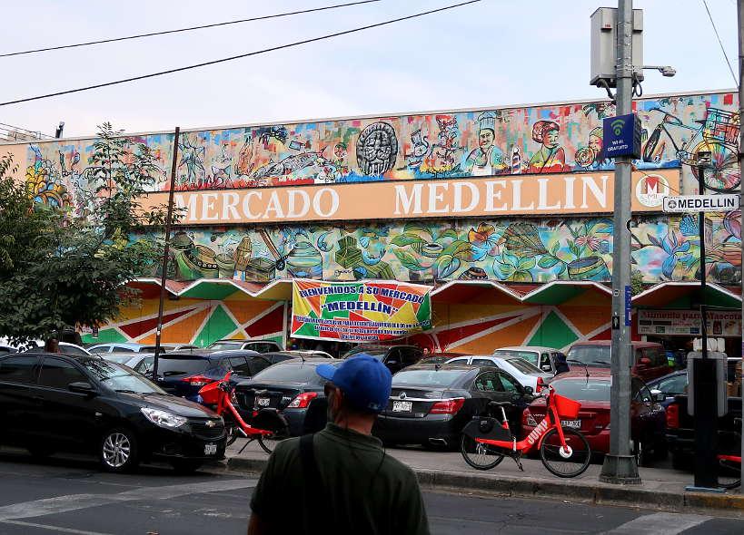 Entrance Mercado de Medellin Mexico City Markets by AuthenticFoodQuest