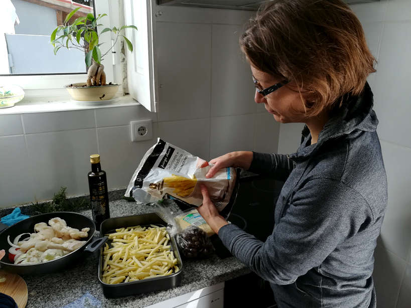Preparing Fries with Bacalhau a Bras Recipe by AuthenticFoodQuest.jpg