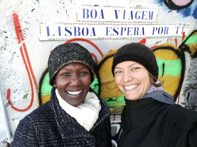 Rosemary and Claire in Lisbon Portugal by Authentic Food Quest