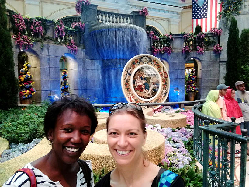 Rosemary and Claire at The Bellagio Garden in LasVegas by AuthenticFoodQuest