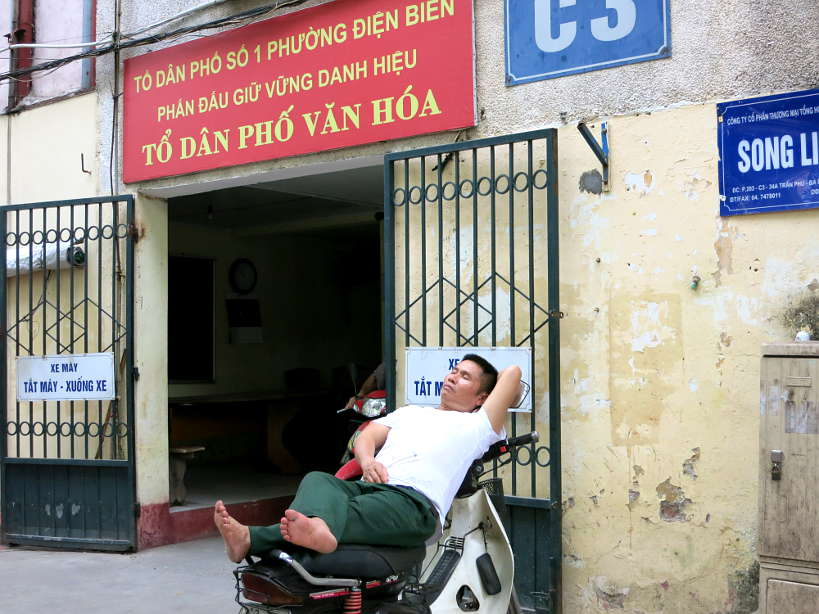 Man Sleeping in Hanoi Vietnam In the Midst of Chaos by Authentic Food Quest
