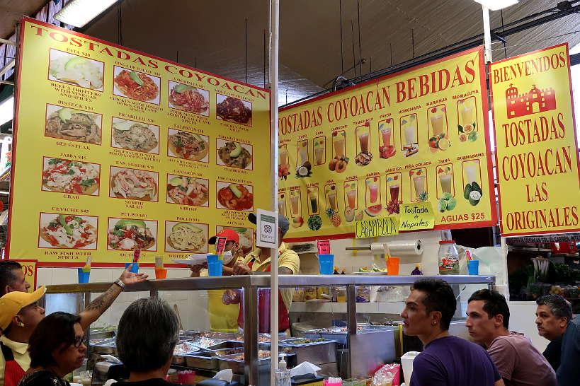 Tostadas de Coyoacan Mercado de Coyoacan one of the Food Markets in Mexico City by AuthenticFoodQuest
