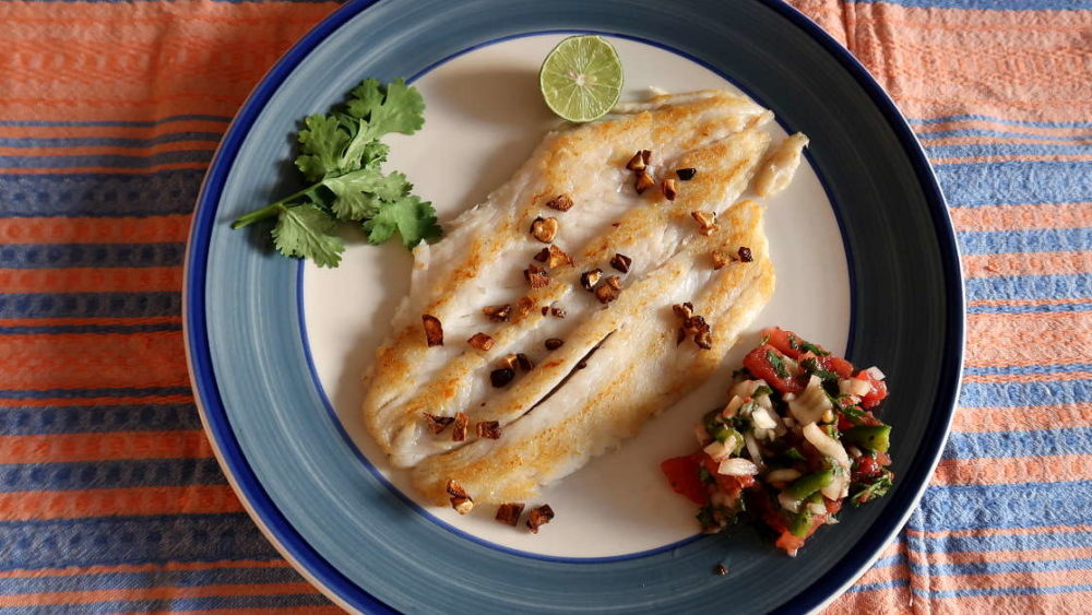 Pan Seared Seabass Chilean recipe with Sauce by AuthenticFoodQuest