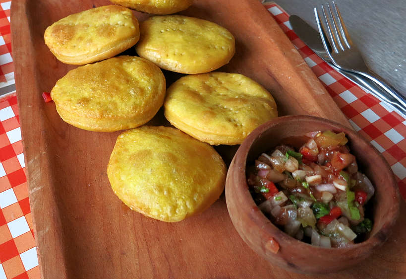 Chilean Pebre with Sopaipilla Pumpkin Doughnuts Chile by AuthenticFoodQuest