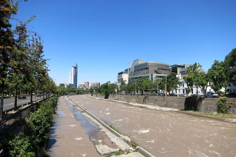 Mapocho River in Santiago Chile by AuthenticFoodQuest