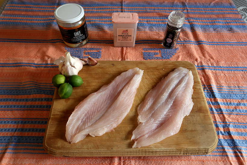 Pan Seared sea bass ingredients by Authentic Food Quest