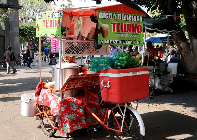 Tejuino street cart for Guadalajara foods by Authentic Food Quest