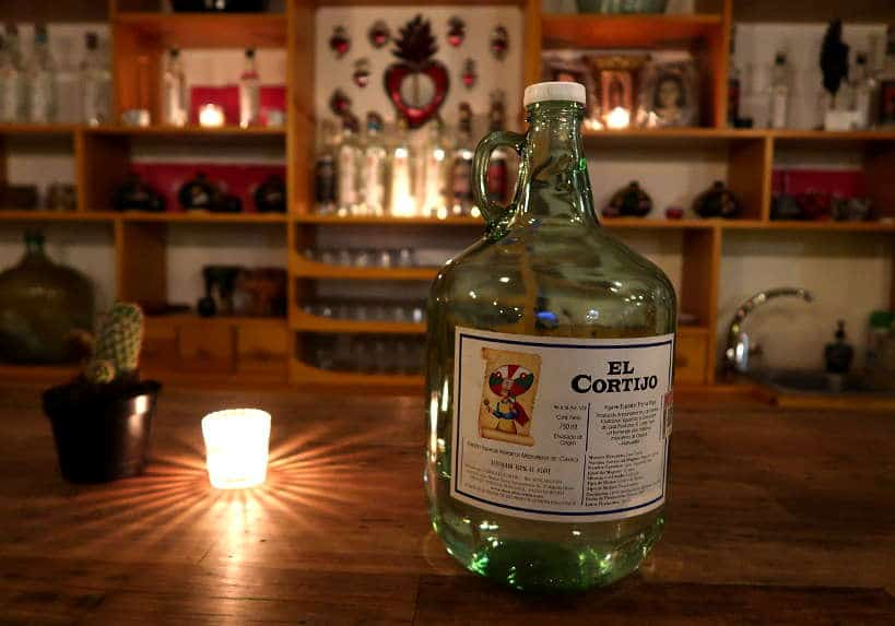 El Cortijo Mezcal Bottle Mezcaleria Oaxaca by Authentic Food Quest
