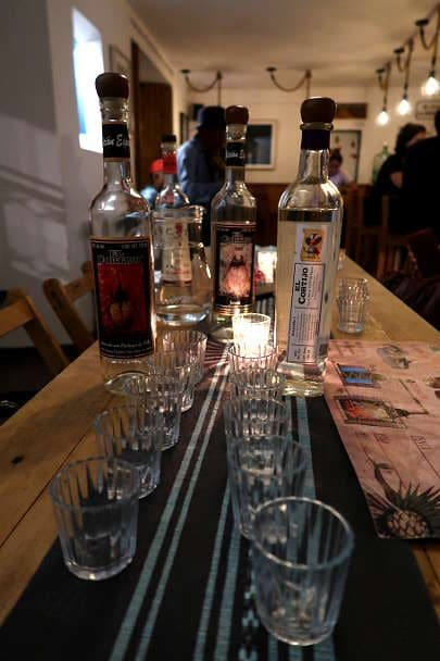 Mezcal tasting El Cortijo Mezcaleria Oaxaca by Authentic Food Quest