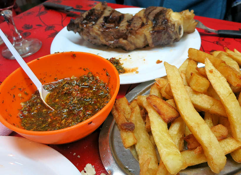 Argentine Chimichurri sauce at Argentina restaurant in Buenos Aires by Authentic Food Quest