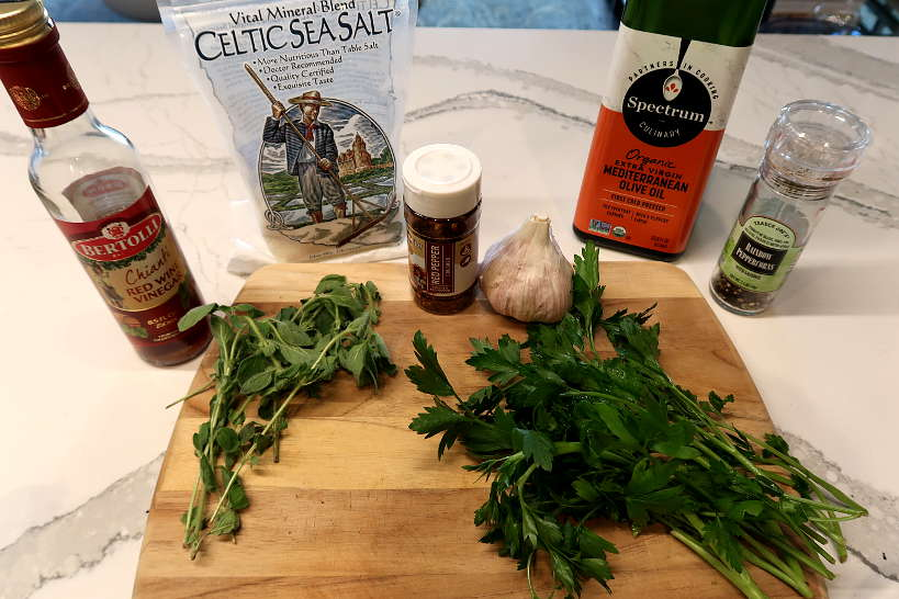 Authentic Chimichurri recipe ingredients by Authentic Food Quest