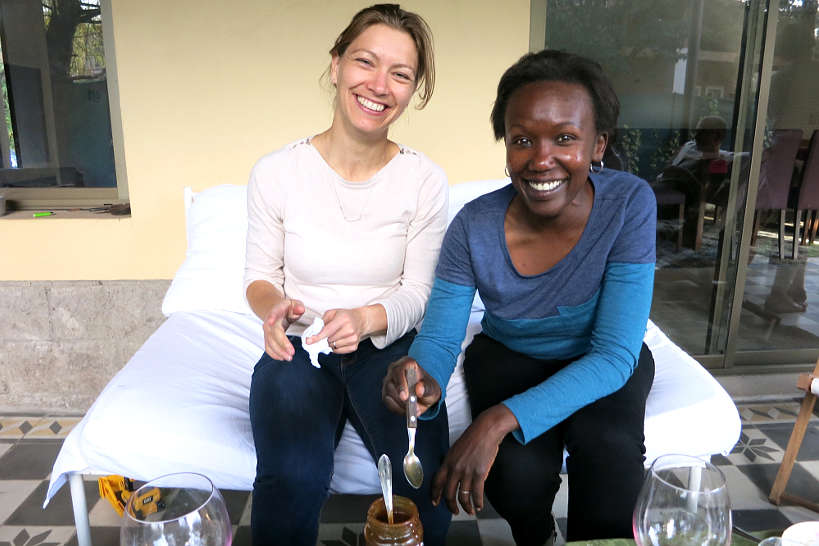 Claire and Rosemary Buenos Aires Argentina for Chocotorta Recipe by Authentic Food Quest