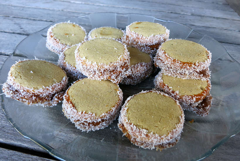 Plate of Alfajores or Argentina cookies  by AuthenticFoodQuest