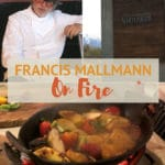 Pinterest image with Francis Mallmann on Fire by AuthenticFoodQuest