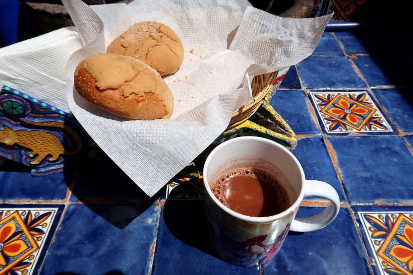 Drinking chocolate in cooking class in Oaxaca by Authentic Food Quest