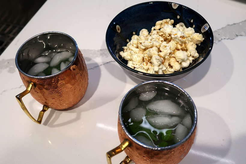 Moscow Mules and Truffle Kettle corn by Authentic Food Quest for Wagyu beef burger recipe