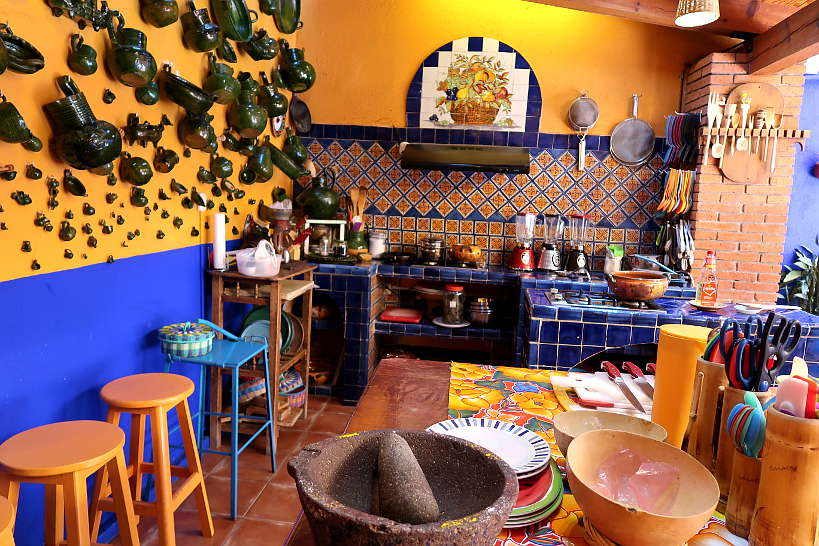 Open air kitchen for cooking class in Oaxaca  by Authentic Food Quest