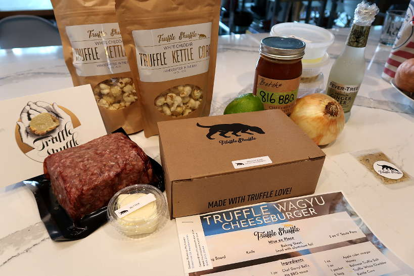 Truffle Wagyu Burger Ingredients for Wagyu Burger recipe by Authentic Food Quest