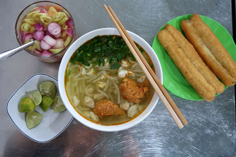 Banh Canh Thick Noodle Soup Food in Danang by Authentic Food Quest