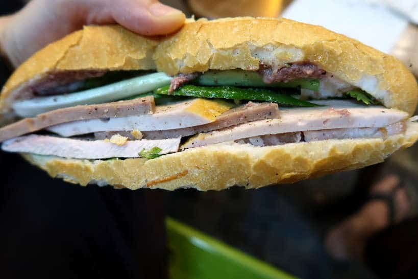 Banh Mi sandwich a Danang Street Food by authentic Food Quest