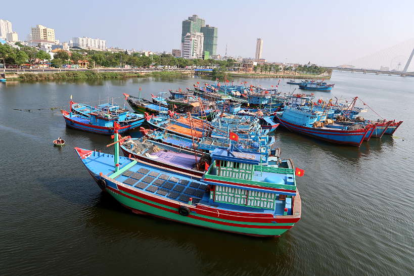 Vietnamese fish boats Danang by Authentic Food Quest