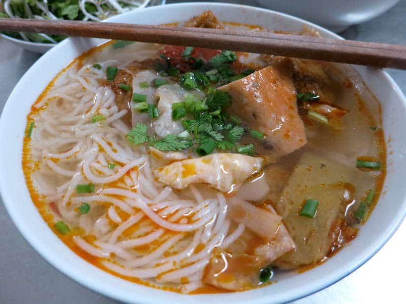 Bun Cha Ca Vietnamese Fried Fish Cake Noodle Soup Food in Danang by AuthenticFoodQuest