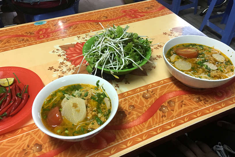 Bun Rieu Vietnamese Crab Noodle Soup_ Breakfast Food in Danang by AuthenticFoodQuest