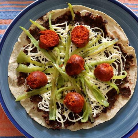 Homemade tlayudas oaxaquena by Authentic Food Quest for tlayuda recipe