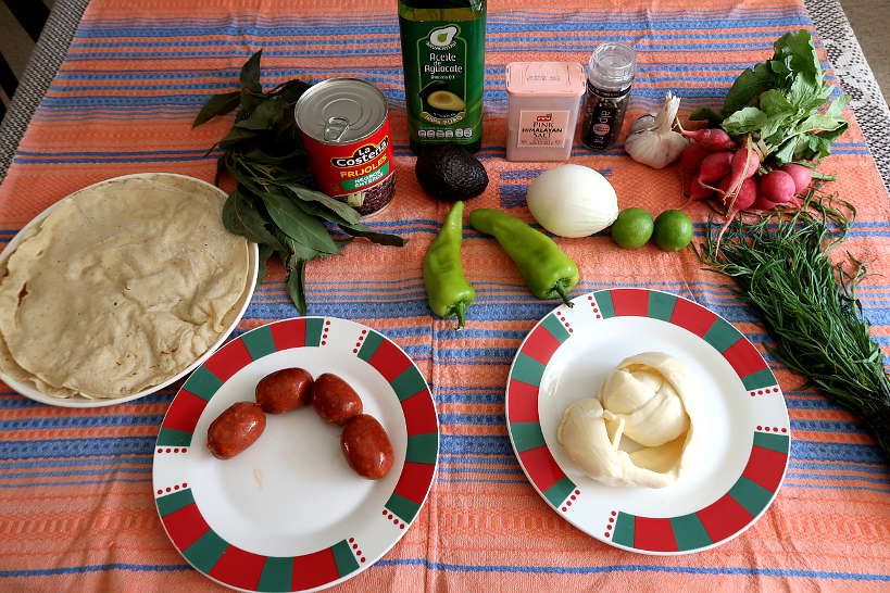 Ingredients for Tlayudas Recipe by Authentic Food Quest
