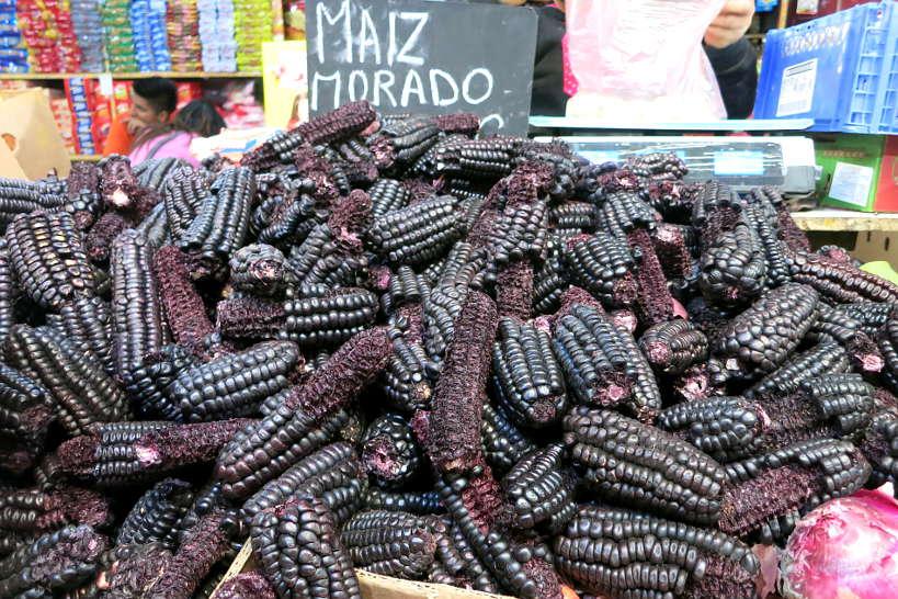 Maiz morado used to make mazamorra morada by Authentic Food Quest