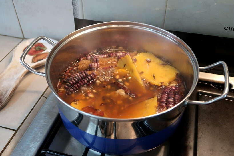 Making mazamorra morada Peruvian corn pudding by Authentic Food Quest