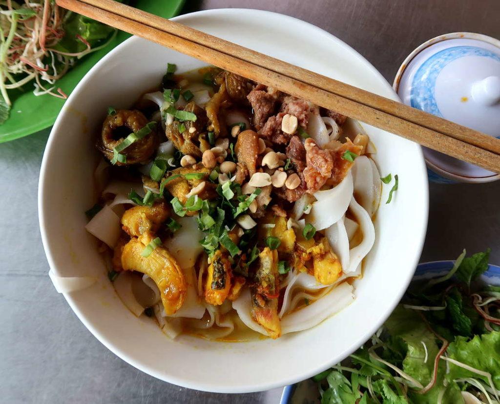 Mi Quang noodles Danang by Authentic Food Quest
