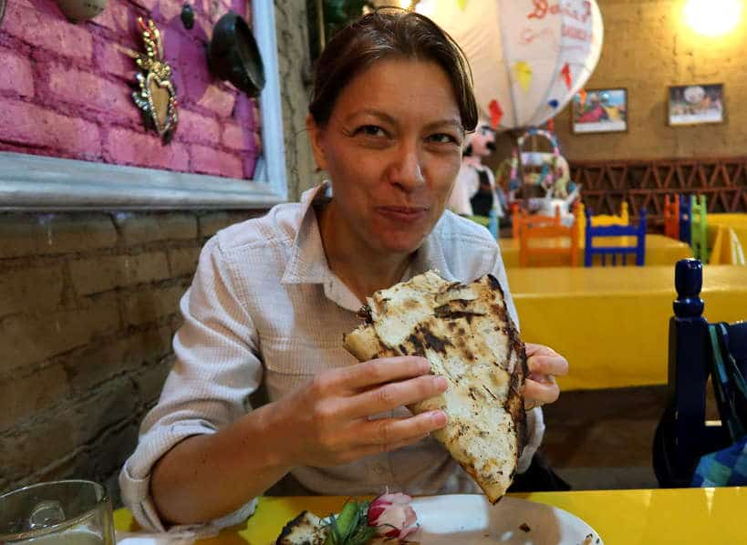 Tlyaudas with Chapulines in Oaxaca Mexico by Authentic Food Quest