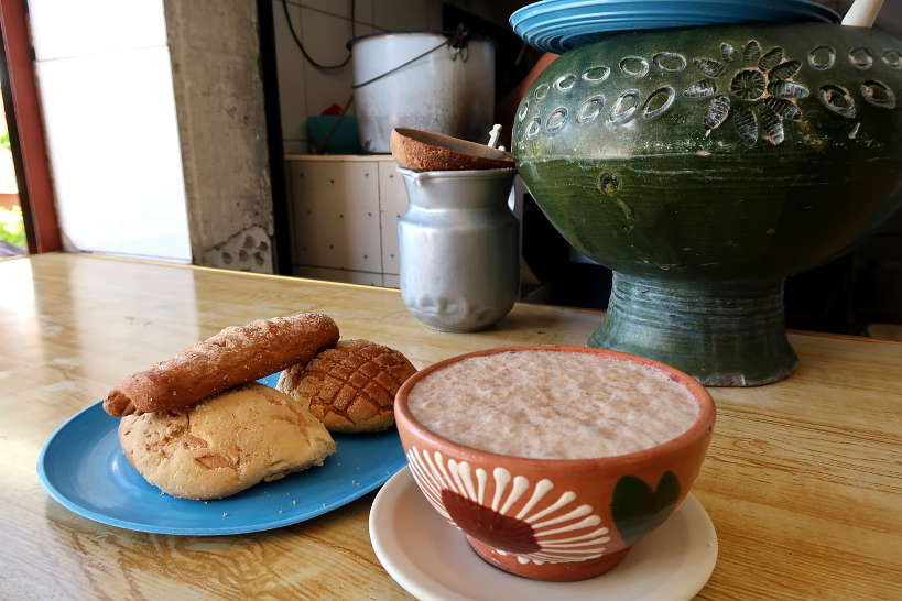 Chocolate with pan dulce for Oaxaca foods by Authentic Food Quest