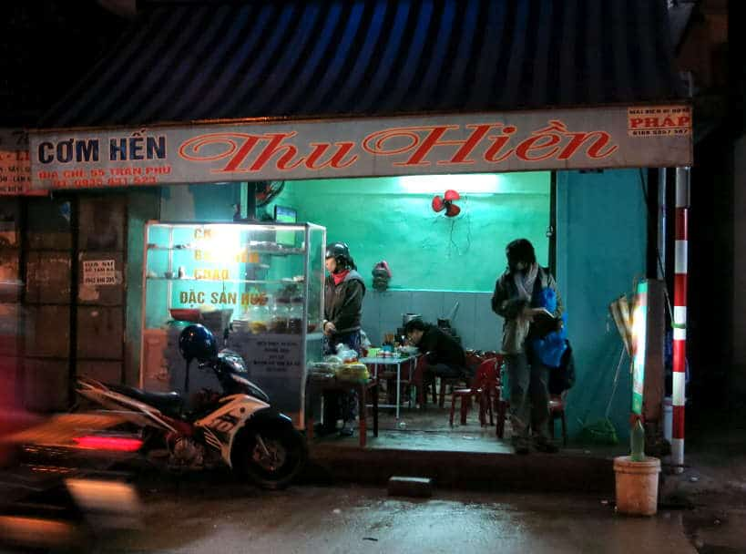Com Hen Thu Hien Best Restaurant in Hue by Authentic Food Quest